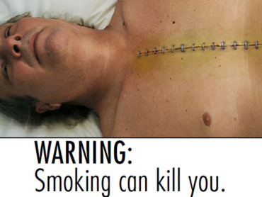 According to most experts, disturbing scare tactics don't work.  Why? It's because these type of ads can increase anxiety and stress... which are some of the reasons you smoke to begin with.