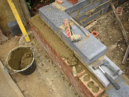 Laying blocks with Masonry Cement