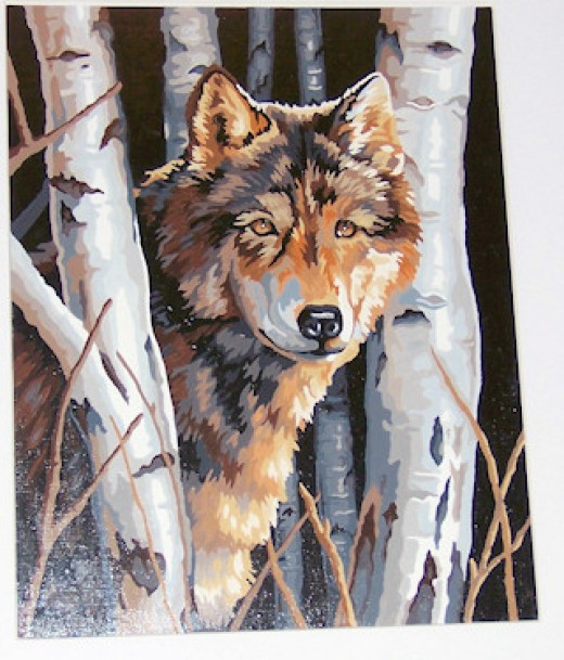 Lone Wolf Paint by Number