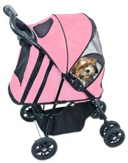 Pink Pet Stroller