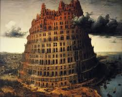 A rendition of the Tower of Babel.