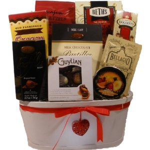 Sweet Temptation Gourmet Food Gift Basket - Valentine's Day Gift Basket