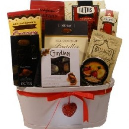 Sweet Temptation Gourmet Food Gift Basket - Valentine's Day Gift Basket