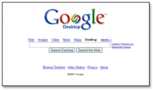 Google Desktop Homepage