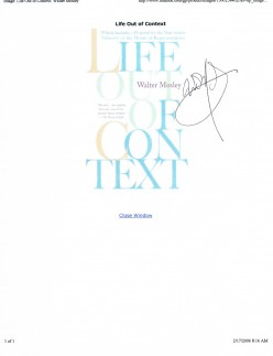 Signed by Walter Mosley