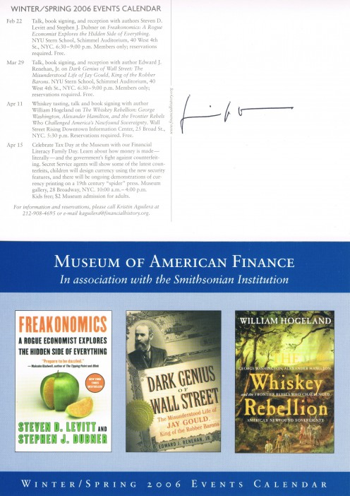 Shown above is the autograph of William Hogeland