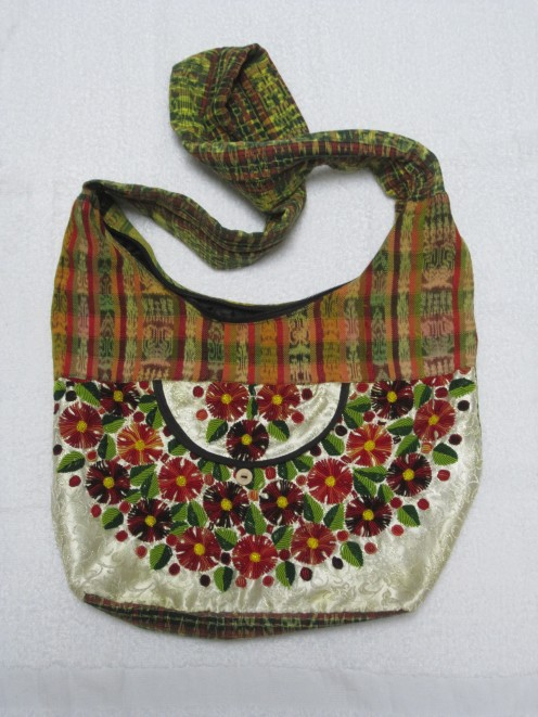 Handmade Purse with embroidered flowers
