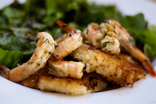 Chilli Herb Shrimp appetizer.
