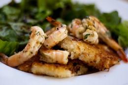 Chilli Herb Shrimp appetizer.