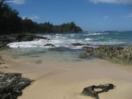 There are state beach campgrounds like this all around Oahu and Kauai