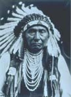 "Chief Joseph of the Nez Perce ""From this day, I will fight no more forever."" Photo taken in the 1900's"