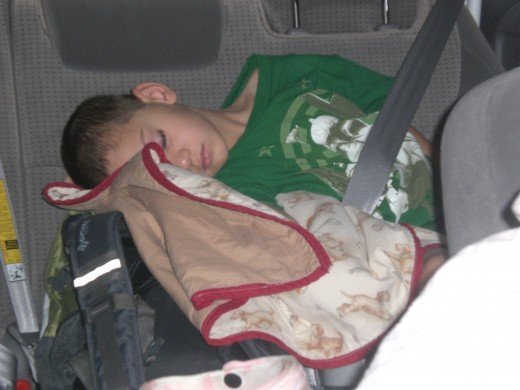 You can always sleep in the car - as long as you aren't driving!