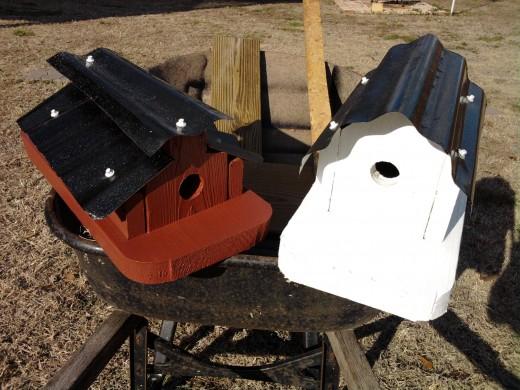 Fun making bird houses.