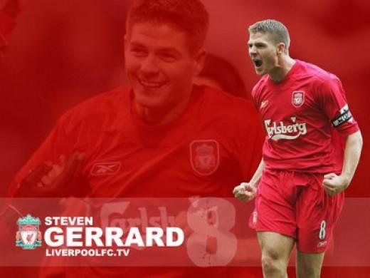 Steven Gerrard Wallpaper : Rallying Call After Scoring A Goal