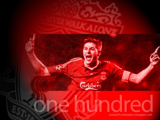 Steven Gerrard 'One Hundred' Wallpaper