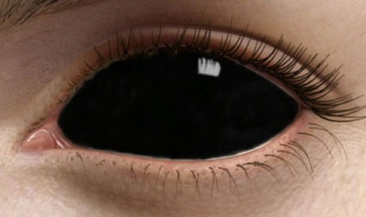 Pitch Black Mirrored Contact Lenses
