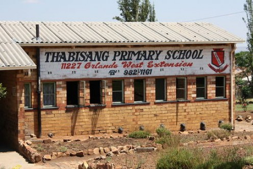 One of the oldest schools in Soweto. Image from http://www.worldharmonyrun.org/sa/news/2008/1021