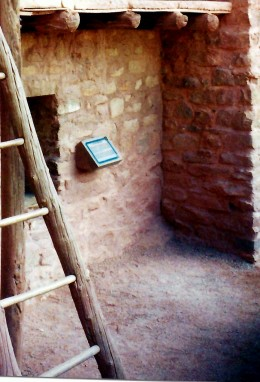 Wooden ladders at the Manitou Cliff Dwellings