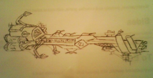 Early Earth Battle ship.