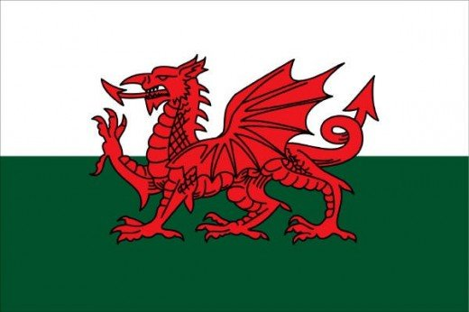 The Red Dragon - The flag of Wales