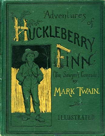 Adventures of Huckleberry Finn first published in England in December 1884 and in the United States in February 1885.
