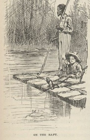 Illustration from the Adventures of Huckleberry Finn