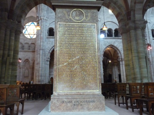 The grave of Erasmus, in the Minster of Basel