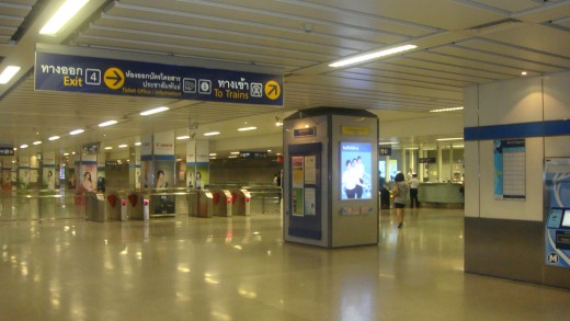 A view of ticketing area and gated