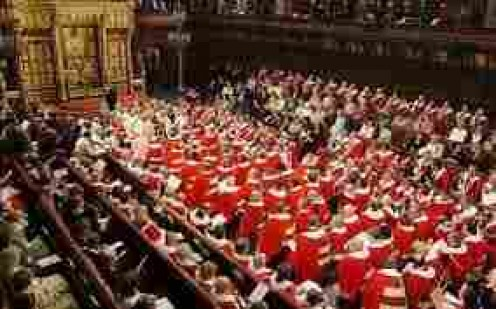 The House of Lords.  Can you spot the Queen of Hearts!?  Or the Mad Hatter!!??