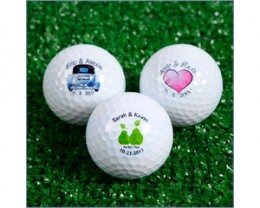 Personalized golf balls mean your guests will remember you every time they tee off!