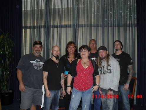 Backstage with Drowning Pool