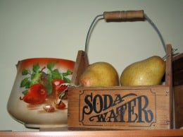 Vintage soda water container