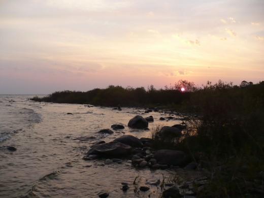 Sunrise at Leelanau State Park, Michigan