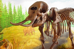 Visitors can greet this mastodon at the Children's Museum