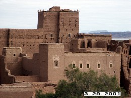 Taourirt Kasbah, one of the largest citadels in the area. Ouarzazate, Morocco.
