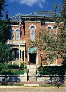 Visitors can visit the Victorian home of James Whitcomb Riley.