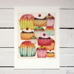 Cupcake print by Sandra Juto