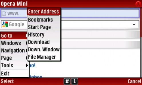 1) SELECT Menu-Go To-Enter Address