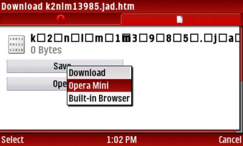 11) CLICK save then SELECT Opera Mini