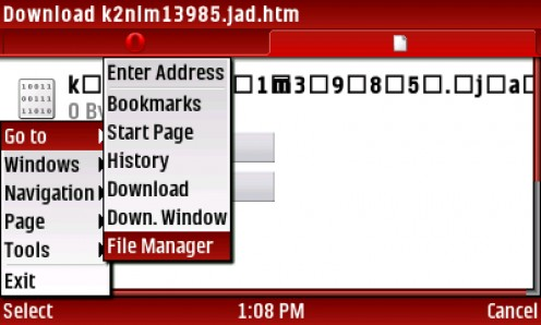 13) SELECT Menu-Go to-File Manager