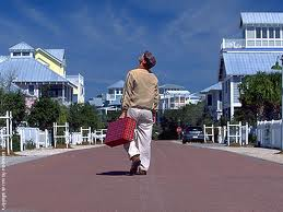 "Jim Carey on location in Seaside, Florida during the filming of the monie ""THE TRUMAN SHOW"""
