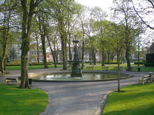 The St.-Pierre gardens, where in WW2 German troops were deeply dug in