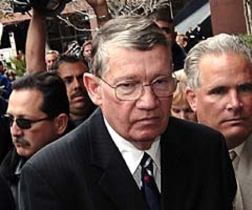 "Randy ""Duke"" Cunningham in jail for accepting bribes from military contractors"