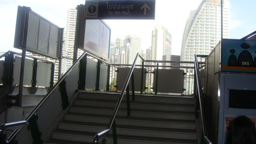 Stairs to On Nut Platform