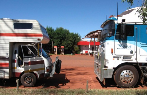 On the forecourt of Pardoo Roadhouse.