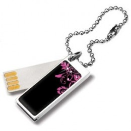 2GB USB Flash Drive in Pink with Swarovski Crystal Embellishments by Glam