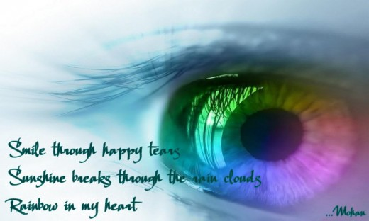 Haiga: Rainbow Eyes
