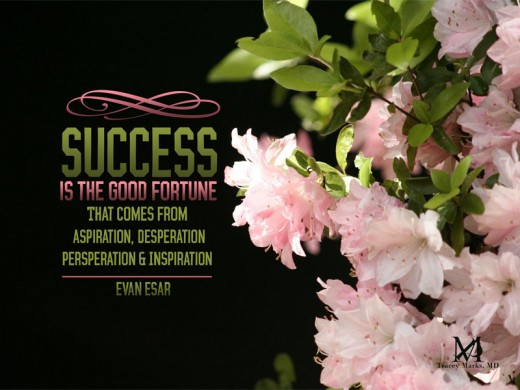 It is hard to make it to the top...once there success is a sweet feeling.