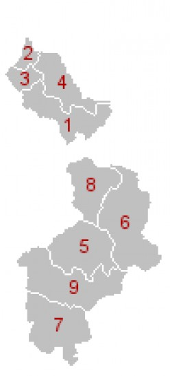 Map of Belgium's Ostkantone
