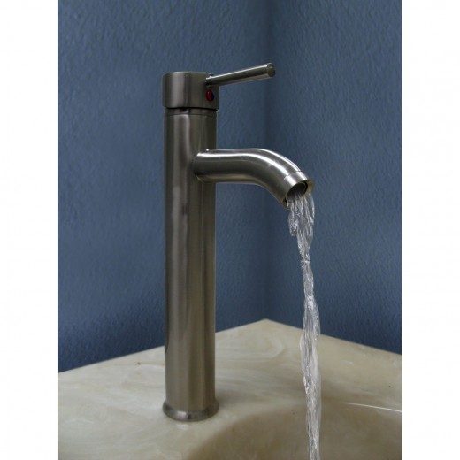 Vessel sink faucets come in a wide range of styles and finishes.